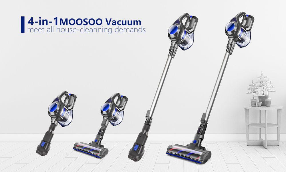 Test, avis aspirateur léger balai Moosoo 4 en 1 pour nettoyer tous les coins de la maison